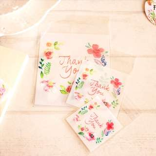 BNIP Floral Designed Thank You Clear Cookie Bag