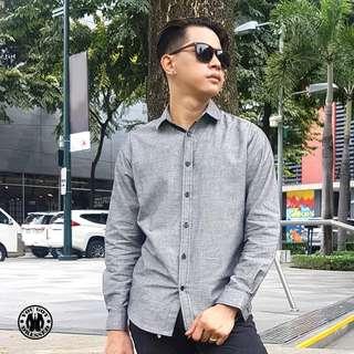 Gray Oxford Long Sleeve Shirt