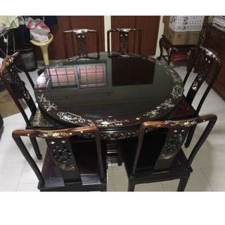 Mother-Of Pearl Dinning Table Set