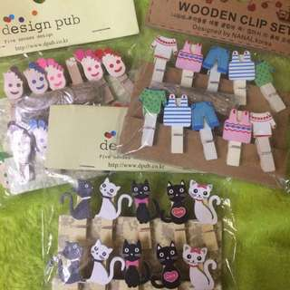Wooden Clip Sets from Korea