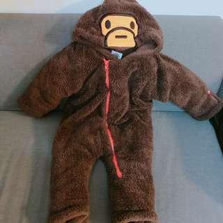 BAPE超暖猿人毛毛褸