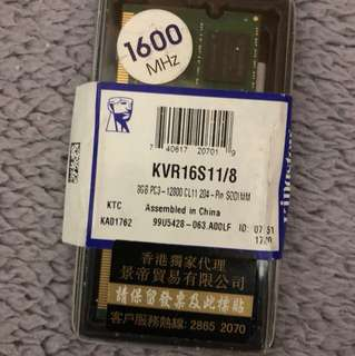 Kingston DDR3 Notebook Ram 8GB