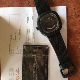 Sevenfriday Racer P3-1 Black Flashy Red Men's Watch