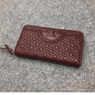 ORIGINAL tory burch fleming zip continental wallet