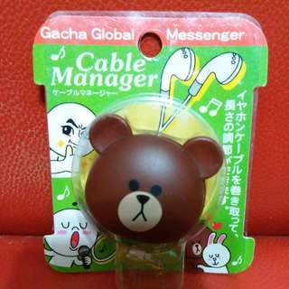 Line 熊大 縮短耳筒 hand free cable manager