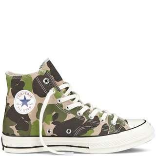Sepatu Converse Chuck Taylor All Star 70 Camo Green