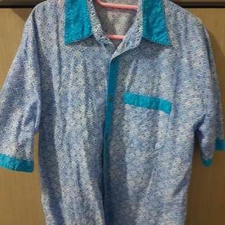 Baju batik biru