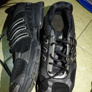Adidas black&silver shoes for men size 7.5