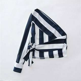20WST17J4 Stripe One Shoulder Top (size S,M,L)