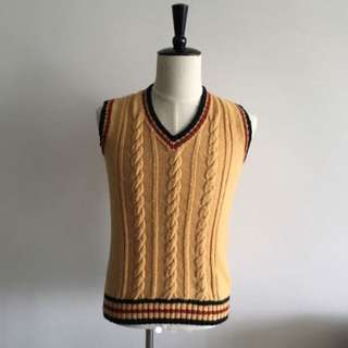 Men's knitted Vest (Hand-knitted)