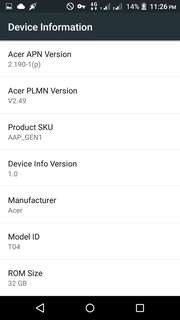 ACER z630s 3gb ram 32gb rom for sale or swap