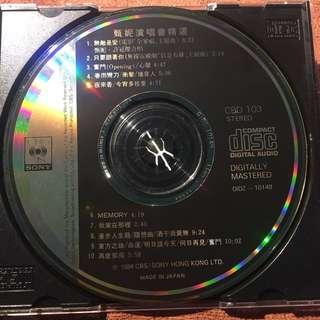 甄妮 JENNY TSENG  演唱會精選 without cover 1984 Made In Japan CD