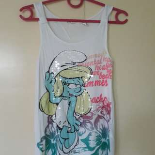 Smurfette sequined sando top