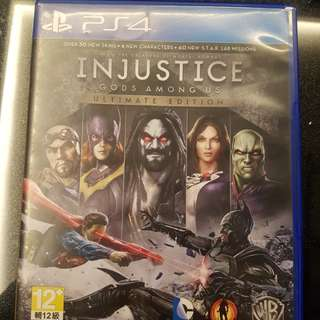 PS4 INJUSTICE game