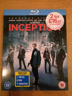 Inception Blu Ray 3 DVD set