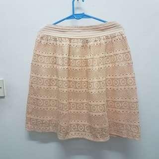Dorothy Perkins Lace Skirt (Peach)