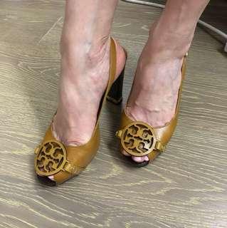 Tory Burch mustard heels