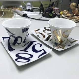 Franck Muller 珍藏陶瓷杯碟一套