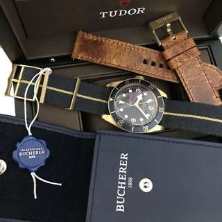 Tudor Heritage Black Bay - Bronze Blue limited edition 79250BB