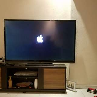 60inch sharp hd tv, bundle with one apple tv