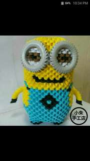 Minion Double Eyes 3D Origami