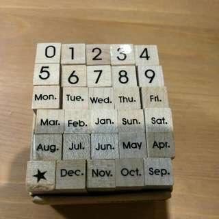 Micia 美日手藝館 印章組-日期與數字