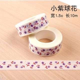 Purple Flower Ball Washi Tape