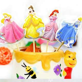 Disney Princesses Cupcake & Cake Topper