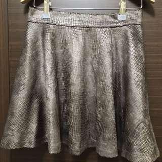 🚚 咖色蛇紋短裙