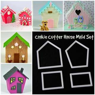 🏠 HOUSE CUTTER MOLD TOOL SET Cake Decorating Tool for Cookies • Fondant Cake & Cupcake • Bread Dough • Pastry • Sugar Craft • Jelly • Gum Paste • Polymer Clay Art Craft •