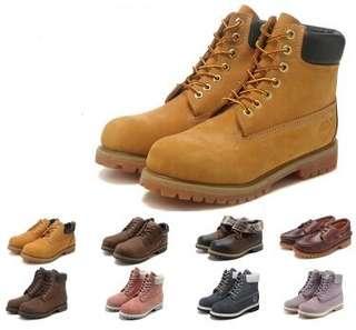 踢不爛真牛皮防水戶外男女情侶裸短中靴子 經典黃金靴 保暖靴 雨靴 軍靴 登山靴雪地靴馬丁靴長