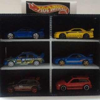 Hotwheels tomica 6slots display case