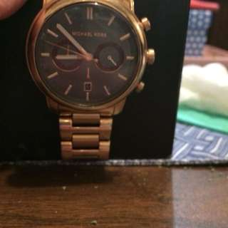 Men's rose gold & stainless steel chronograph watch