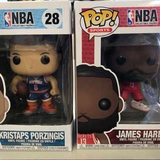 FUNKO POP NBA - Kristaps Porzingis & James Harden