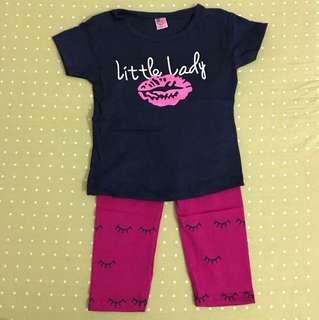 Girl's Set Little Lady pink