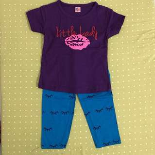 Shirt And Pants Little Lady Purple