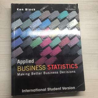 Applied Business Statistic Making Better Business Decisions Ken Black 7th Edition