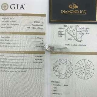 . 💍💍 新款戒指托 #7452 三種帶法 任你配搭 💋💋 . 😍 配上 GIA證書 💄2.00卡 F色 SI1 大大粒主石 超豪鑲嵌 特顯你尊貴嘅身分 🎉