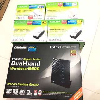 Asus wireless router and TP link power line