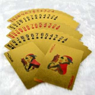 24K Gold Plated Playing Poker Cards