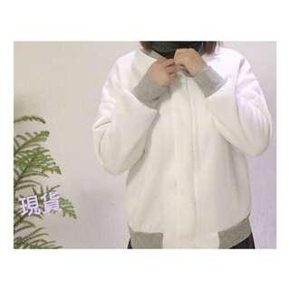 🎀 現貨 加絨撞色拉鏈外套🇰🇷韓國製