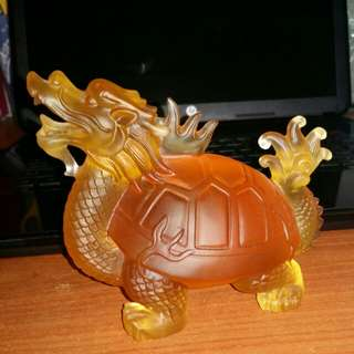very  lucky  dragon turtle and its  orange  jade good offer  for  lucky  new  owner thks