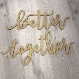 Solemnization chair props BETTER TOGETHER