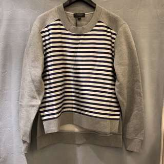 Burberry [RUNWAY] striped silk blend & cotton blend sweater
