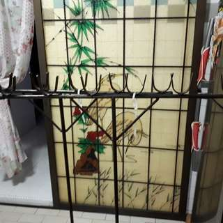 Bamboo pole hanger