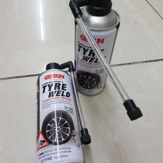 Emergency tyre weld puncture repair
