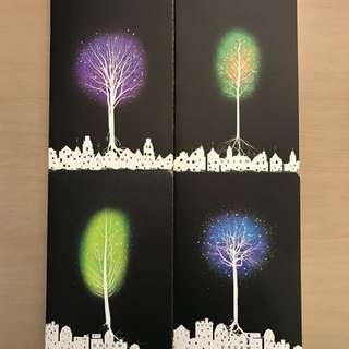 A5 Glowing tree notebook