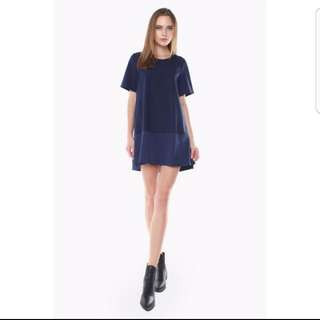 Control Panel Dress in Navy