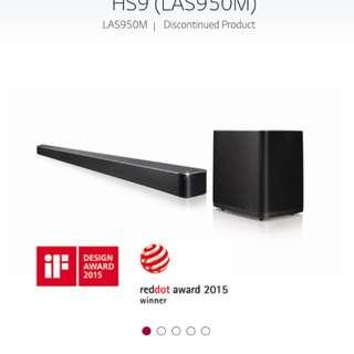 LG Sound Bar HS9 get free H5
