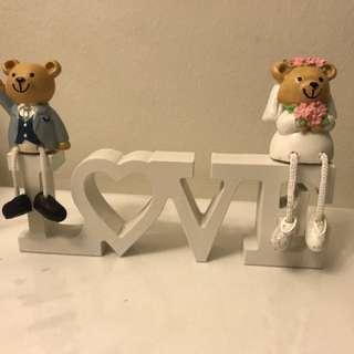Wedding Decoration - LOVE sign with teddy bears